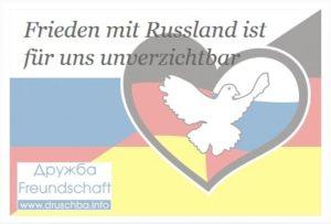 Petition fuer Frieden mit Russland