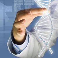Hand hält ein virtuelles Kettenmolekül