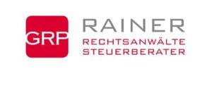 Logo der Anwaltskanzlei in Rot mit weißer Schrift