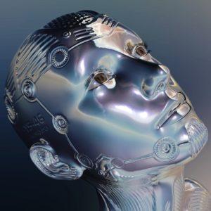 der Kopf eines menschlichen Roboters