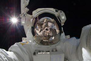 Astronaut in Nahaufnahme