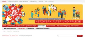 Homepage der Caritas