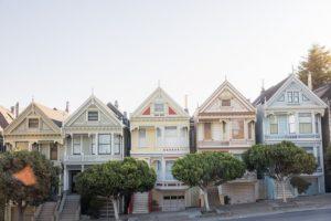 Häuserreihe in San Fransisco