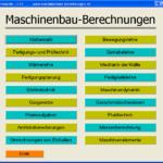 Berechnungssoftware für den Maschinenbau