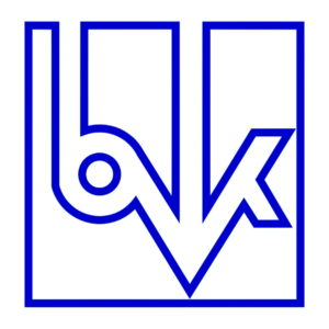 Logo des Verbandes - blaue Zeichen auf weißem Hintergrund