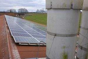 Blick von oben auf die Solarmodule