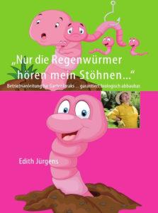 Cover mit einem gezeichneten rosa Regenwurm, der aus einem Erdloch guckt