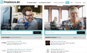 Screenshot freelance.de