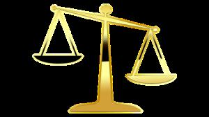 goldene Waagschale Justizia