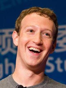 der lachende Zuckerberg