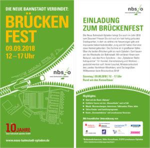 Flyer der Einladung zum Brückenfest