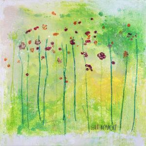 Gemälde einer Blumenwiese