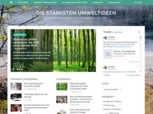 Screenshot des Blogs