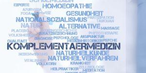 Schlagwortwolke rund um die Komplementärmedizin