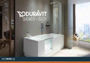 Neue Lösung für kleine Bäder: Dusche und Badewanne ...