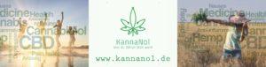 das Firmenlogo mit einer stilisierten Cannabispflanze