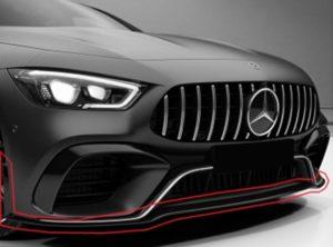 Kühler eines Mercedes in schwarz