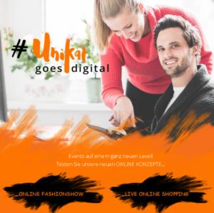 Online Fashionshow und live online shopping sind auch im Programm