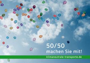Flyer für klimaneutrale Transporte