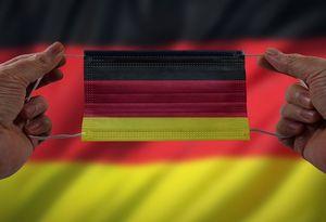 Deutsche Flagge als Maske