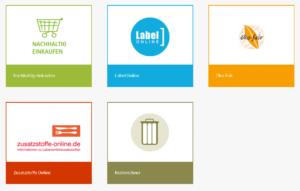 Buttons für die Services der VERBRAUCHER INITIATIVE e.V.