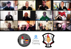 Screenshot eines Online-Trainings des Vereins empty hands