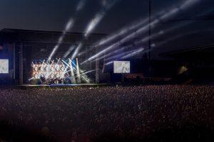 Konzertbühne eines Festivals