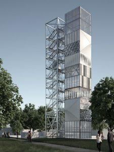 ein Turm in Leichtbauweise