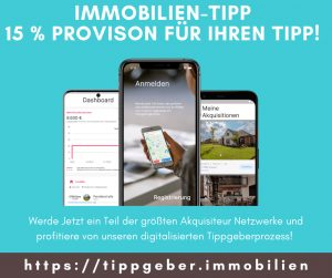 die Oberfläche der neuen App für Immobilientipps