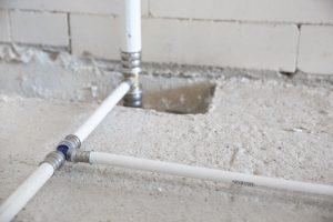Bild von Wasserleitungen im Neubau