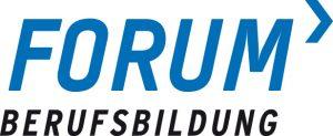 Logo Forum Berufsbildung blau auf weiß