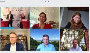 Screenshot einer Online-Konferenz der Verbände