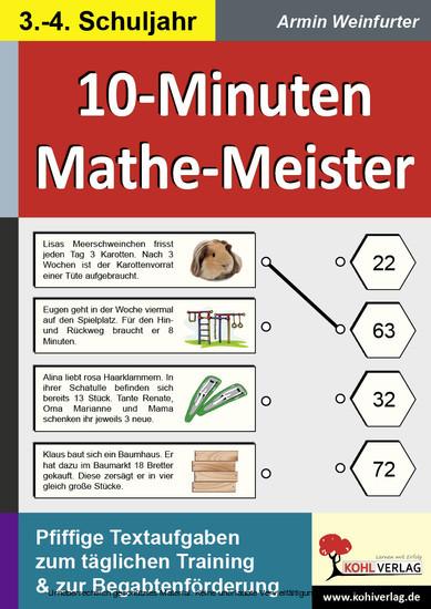 10-Minuten-Mathe-Meister / Klasse 3-4 - Blick ins Buch