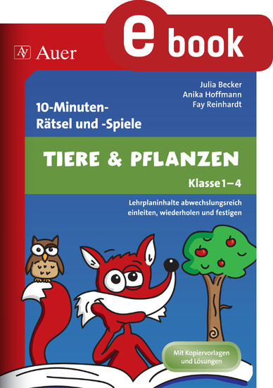 10-Minuten-Rätsel und -Spiele Tiere & Pflanzen - Blick ins Buch