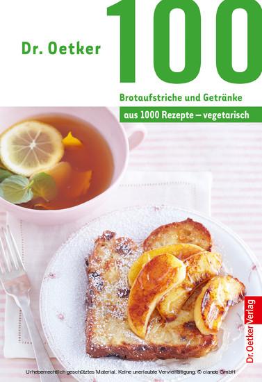 100 Brotaufstriche und Getränke - Blick ins Buch