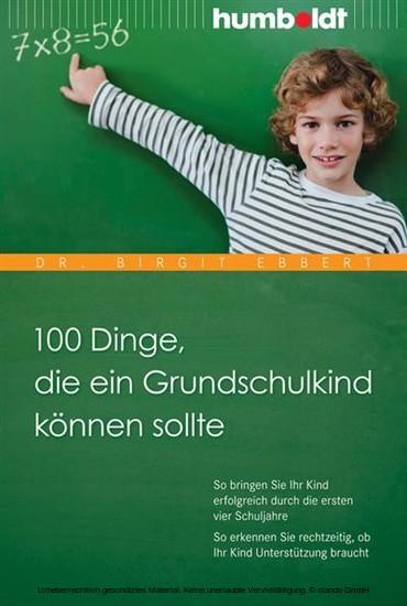 100 Dinge, die ein Grundschulkind können sollte - Blick ins Buch