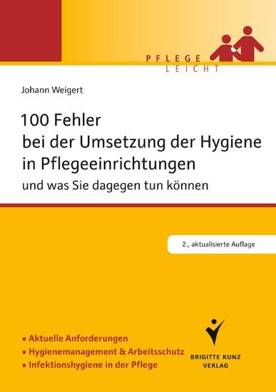 100 Fehler bei der Umsetzung der Hygiene in Pflegeeinrichtungen - Blick ins Buch