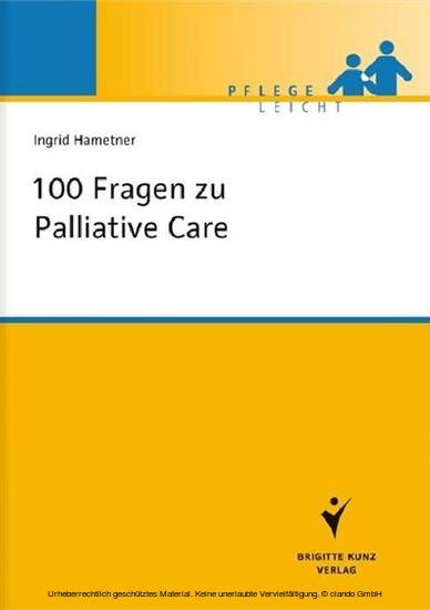 100 Fragen zu Palliative Care - Blick ins Buch
