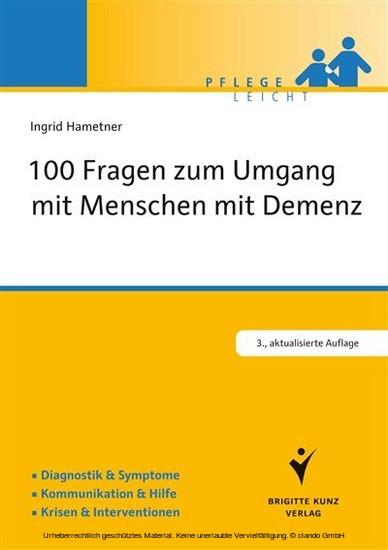 100 Fragen zum Umgang mit Menschen mit Demenz - Blick ins Buch
