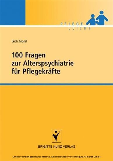 100 Fragen zur Alterspsychiatrie für Pflegekräfte - Blick ins Buch