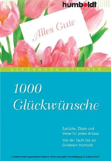 1000 Glückwünsche - Blick ins Buch