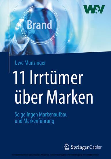11 Irrtümer über Marken - Blick ins Buch