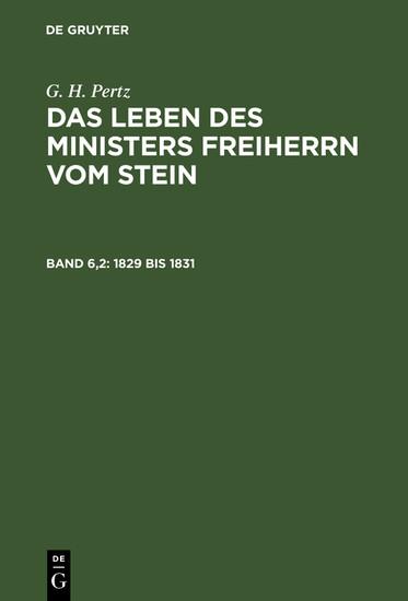 1829 bis 1831 - Blick ins Buch