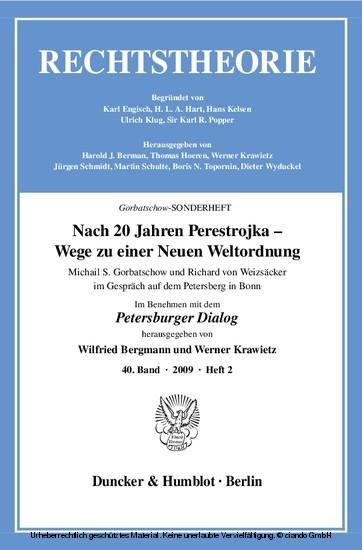 Nach 20 Jahren Perestrojka - Wege zu einer Neuen Weltordnung. - Blick ins Buch