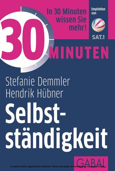 30 Minuten Selbstständigkeit - Blick ins Buch