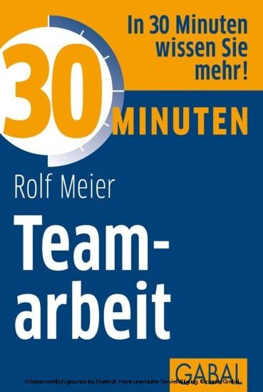 30 Minuten Teamarbeit - Blick ins Buch