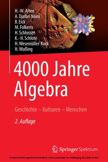 4000 Jahre Algebra - Blick ins Buch