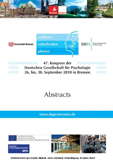 47. Kongress der Deutschen Gesellschaft für Psychologie - Blick ins Buch