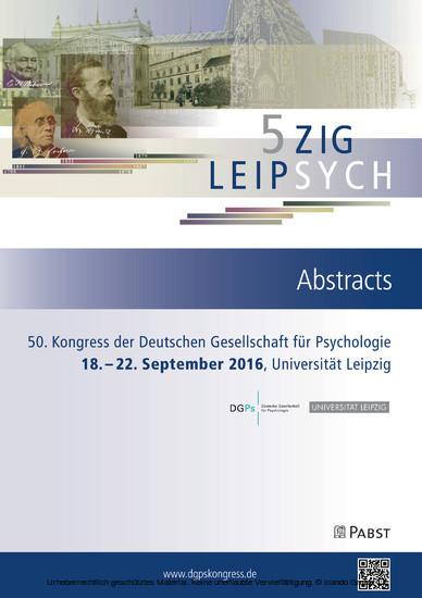 50. Kongress der Deutschen Gesellschaft für Psychologie - Blick ins Buch