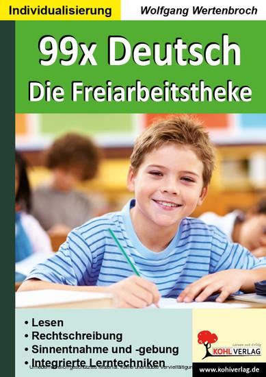 99x Deutsch - Die Freiarbeitstheke - Blick ins Buch